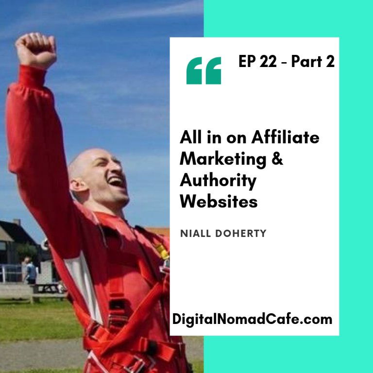 digital nomad podcast - Authority websites